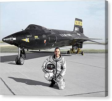 Pete Knight As X-15 Test Pilot Canvas Print