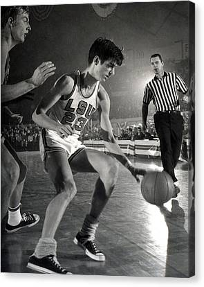 Lsu Canvas Print - Pete Maravich Dribbling by Retro Images Archive