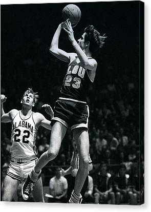 Pistol Canvas Print - Pete Maravich Fade Away by Retro Images Archive