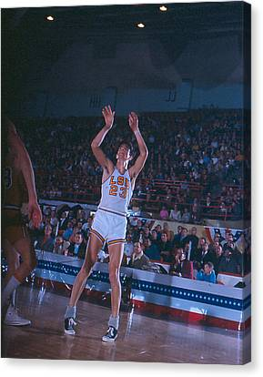 Lsu Canvas Print - Pete Maravich Follow Through by Retro Images Archive