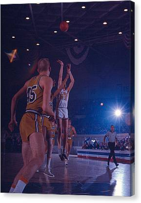Pete Maravich Gorgeous Shot Canvas Print by Retro Images Archive