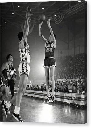 Pistol Canvas Print - Pete Maravich Jump Shot by Retro Images Archive