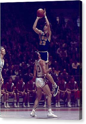 Pete Maravich Leaning Jumper Canvas Print by Retro Images Archive