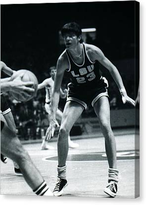 Pete Maravich Playing Defense Canvas Print by Retro Images Archive