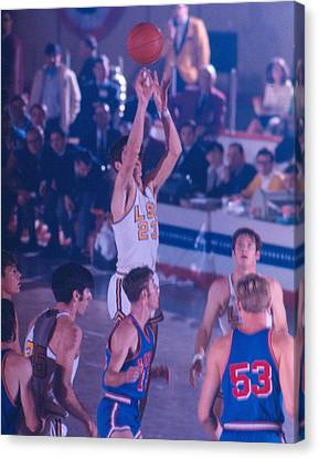 Pete Maravich Releasing Shot Canvas Print by Retro Images Archive