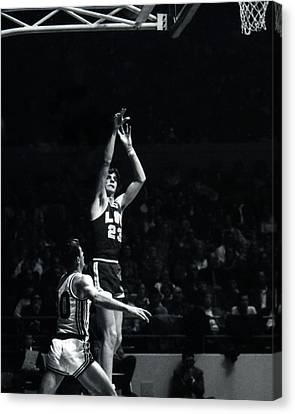 Lsu Canvas Print - Pete Maravich Shooting From Distance by Retro Images Archive