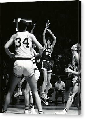 Lsu Canvas Print - Pete Maravich Shooting Jumper by Retro Images Archive
