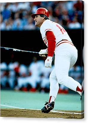 Pete Rose Follow Through Canvas Print