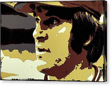 Pete Rose Portrait Art Canvas Print