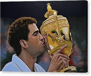 Australian Open Canvas Print - Pete Sampras by Paul Meijering