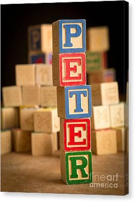 Peter - Alphabet Blocks Canvas Print by Edward Fielding