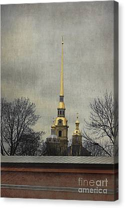 Peter And Paul Fortress Canvas Print by Elena Nosyreva