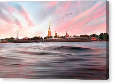Canvas Print featuring the photograph Peter And Paul Fortress by Roy  McPeak