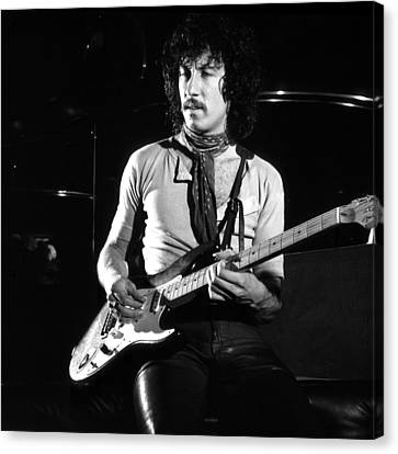 Peter Green 1969 In Bw - Square Canvas Print by Chris Walter