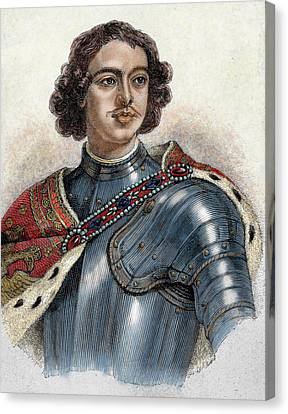 Peter I The Great (1672-1725 Canvas Print by Prisma Archivo