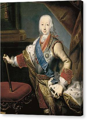 Peter IIi 1728-1762. Anonymous Portrait Canvas Print by Everett