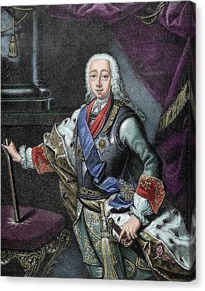 Peter IIi Of Russia (kiel Castle Canvas Print by Prisma Archivo