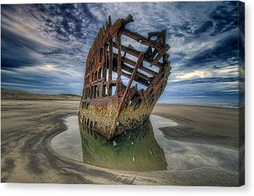 Peter Iredale At Dawn Canvas Print