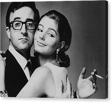 Peter Sellers Posing With A Model Canvas Print by Jereme Ducrot