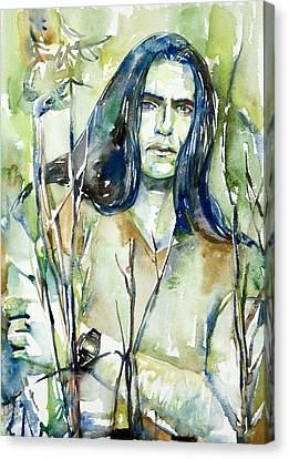 Peter Steele Portrait.1 Canvas Print by Fabrizio Cassetta