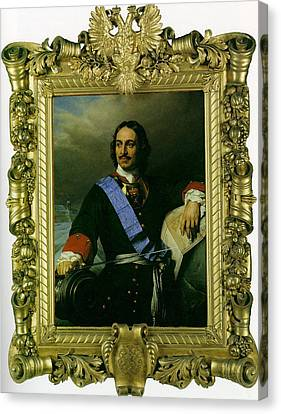 Peter The Great Of Russia Canvas Print by Paul  Delaroche
