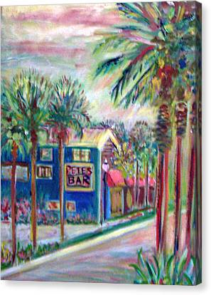 Patricia Taylor Canvas Print - Pete's Bar In Neptune Beach by Patricia Taylor
