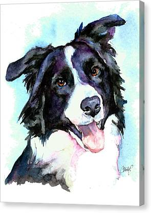 Petey Border Collie Canvas Print by Christy  Freeman