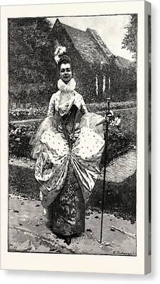 Petite Marquise Au Xviie Canvas Print by English School