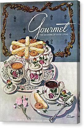 Petits Pots De Creme Canvas Print by Henry Stahlhut