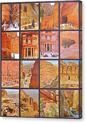 Petra Alive In Petra Jordan Canvas Print by Ruth Hager