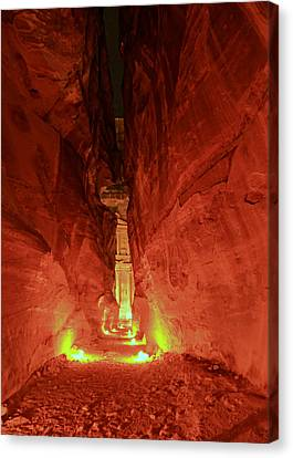 Petra Night Journey Canvas Print by Stephen Stookey