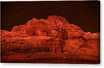 Petra Canvas Print - Petra Nights by Stephen Stookey