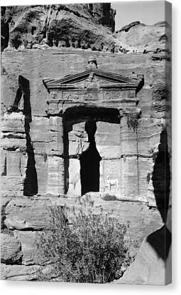 Petra Tomb Of The Lions Canvas Print