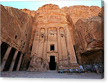 Petra Tomb Canvas Print by Stephen Stookey