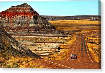 Petrified Forrest Highway-1964 Shelby 289 Cobra Canvas Print by Howard Koby