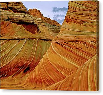 Petrified Sand Dunes The Wave Canvas Print by Ed  Riche