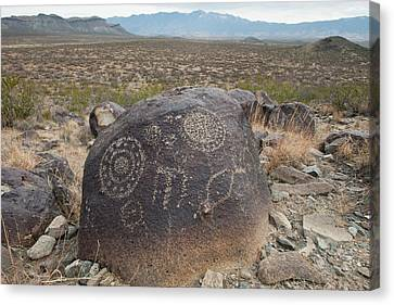 Petroglyph At The Three Rivers Canvas Print