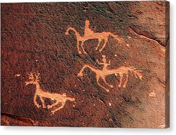 Petroglyph, Canyon De Chelly National Canvas Print by Michel Hersen