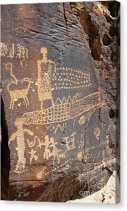 555p Petroglyph - Nine Mile Canyon Canvas Print by NightVisions
