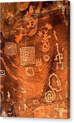 Petroglyph Symbols Canvas Print