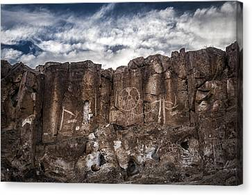 Petroglyphs Canvas Print by Cat Connor