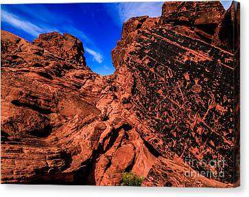 Petroglyphs Of Valley Of Fire Canyon Canvas Print