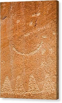 Petroglyphs On Sandstone Canvas Print by Jim West