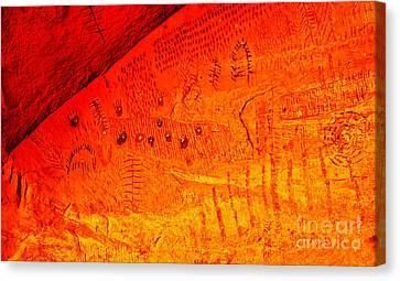 Petroglyphs Canvas Print by Robert Bales