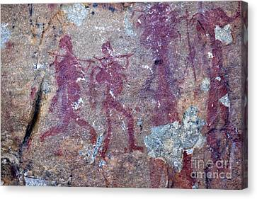Petroglyphs, South Africa Canvas Print by Bob Gibbons