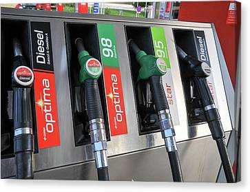 Petrol Station Pumps. Canvas Print by Photostock-israel
