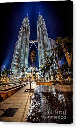 Petronas Twin Towers Canvas Print by Adrian Evans