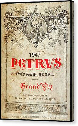 Petrus Wine  Canvas Print by Jon Neidert