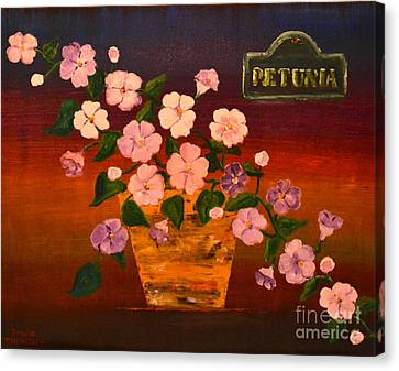 Canvas Print featuring the painting Petunia by Denise Tomasura