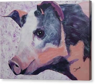 Petunia Pig Canvas Print